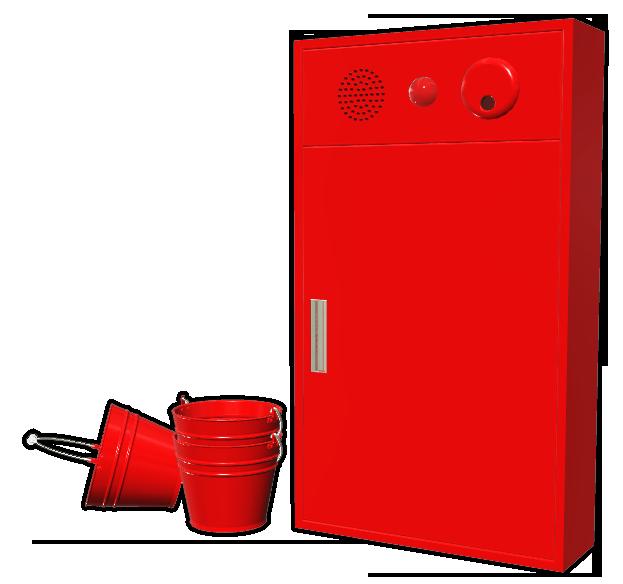 消火栓とバケツ002