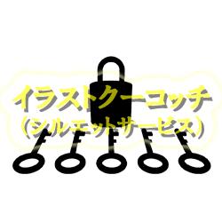 シルエット)南京錠と鍵001