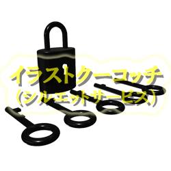 光沢)南京錠と鍵002