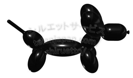 000光沢)バルーン犬003